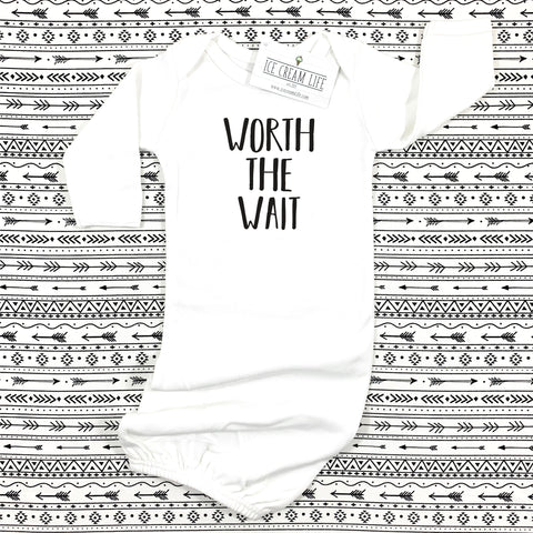 WORTH THE WAIT BABY GOWN