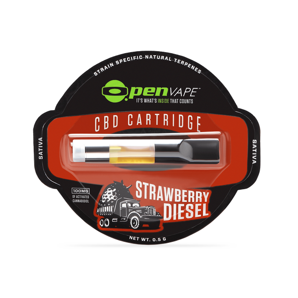 Strawberry Diesel CBD Vape Cartridge - 100mg