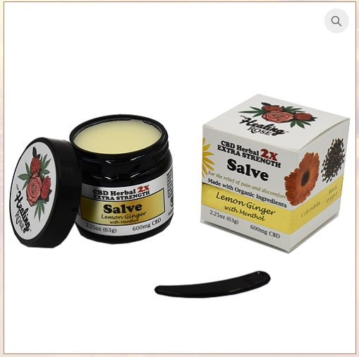 Healing Rose Lemon Ginger Salve 600mg/2.25oz