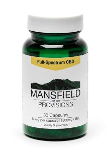 Mansfield Provisions CBD Capsules 50mg/30ct