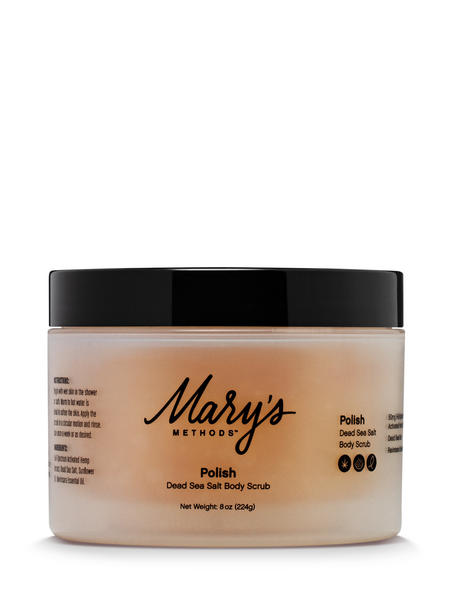Mary's Methods Polish: Dead Sea Salt Scrub - 8oz/50mg CBD