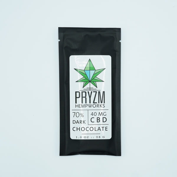 Pryzm Hempworks Dark Chocolate 40mg/1oz