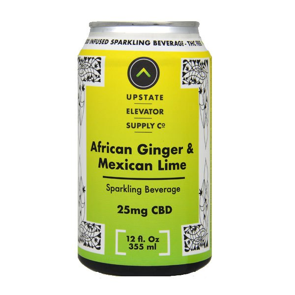 Upstate Elevator Ginger Lime Soda 25mg