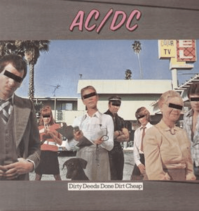 AC/DC - Dirty Deeds Done Dirt Cheap-Dollar Vinyl Club