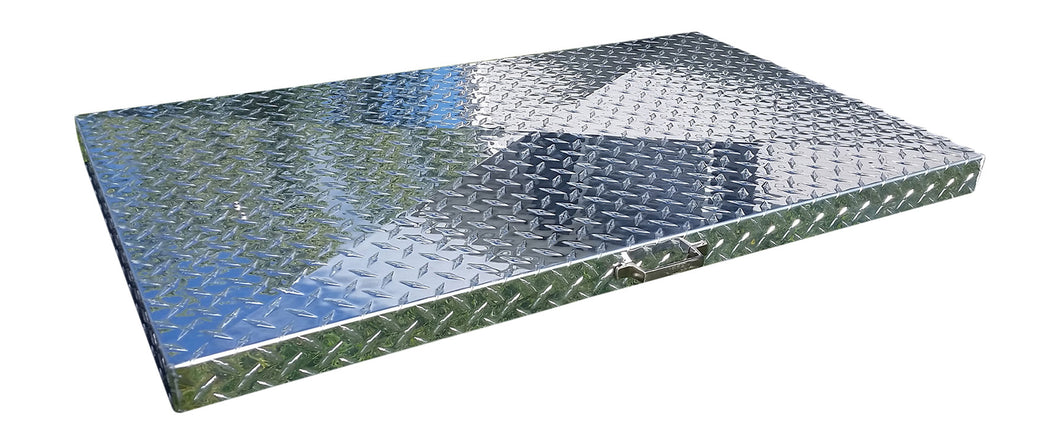 FACTORY SECONDS:  Griddle Cover, Diamond Plate Aluminum, for 36-inch Blackstone Griddle with side or rear grease collection