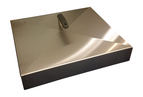 Griddle Cover, Stainless Steel, for 17-inch Blackstone Griddle (also fits Camp Chef Sidekick)