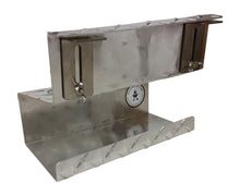 FACTORY SECONDS:  Side Table Bottle Holder, Diamond Plate Aluminum or Stainless Steel
