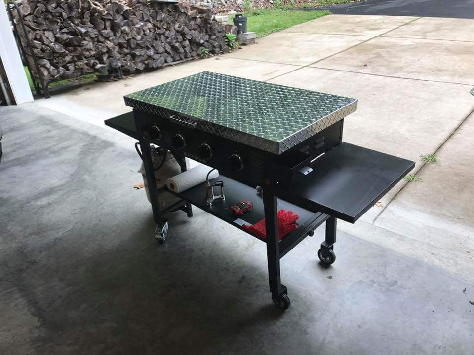 Griddle Cover, Diamond Plate Aluminum, For 36 Inch Blackstone Griddle U2013  Backyard Life Gear