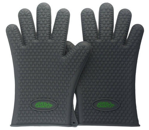 Grill Gauntlet Silicone BBQ Gloves (1 pair, One Size Fits Most)