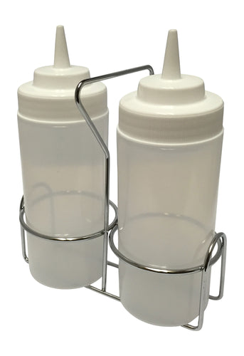 Oil and Water Griddle Squeeze Bottle Set with Caddy