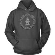Backyard Life Gear Logo Hoodie - Dark Colors - American Apparel Mens