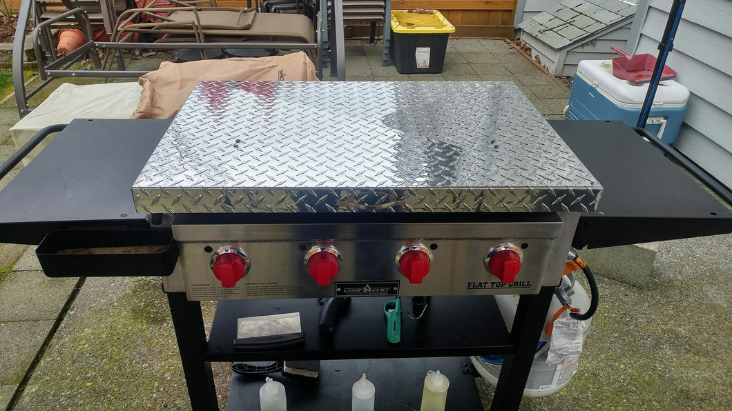 griddle cover diamond plate aluminum for camp chef griddle ftg600