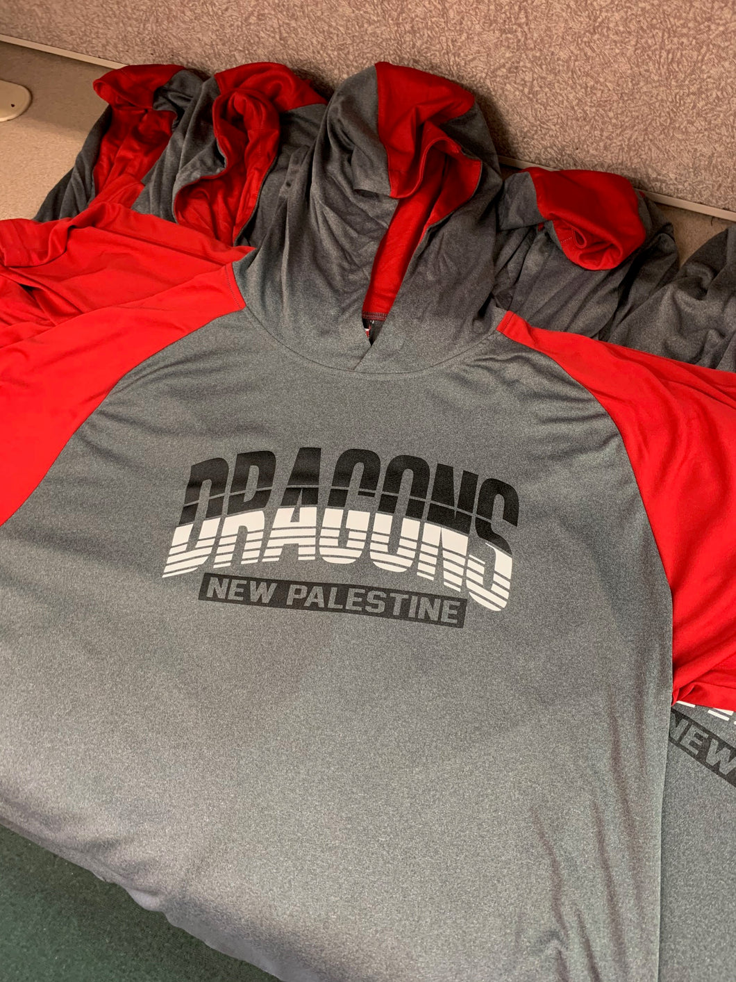 Red/Grey Athlectic LS Adult