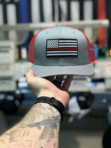 Thin Red Line Heather Gray/Red