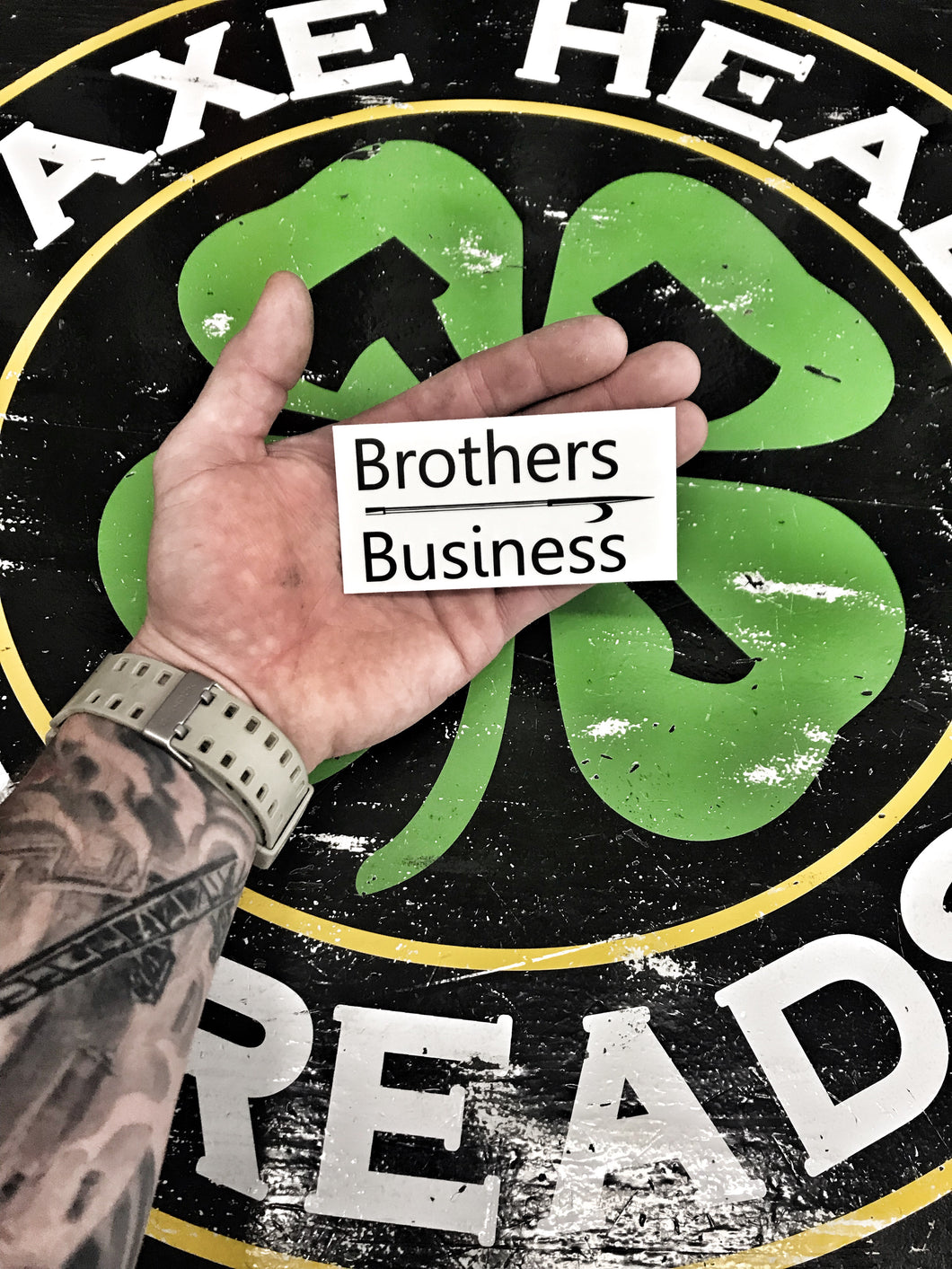 Brothers OVER Business Sticker Decal
