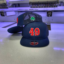 "3D Puff Number ""You Design"" - Offset - on Snapback Baseball Cap"