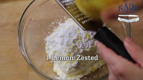 Zest your Lemon over the mix