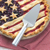 RADA stainless steel Pie Server above an American-themed strawberry and blueberry pie