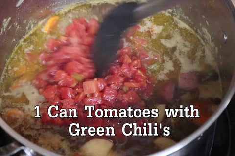 Stir in 1 Can of Tomatoes w/Green Chilies using RADA Cutlery's Non-Scratch Spoon!