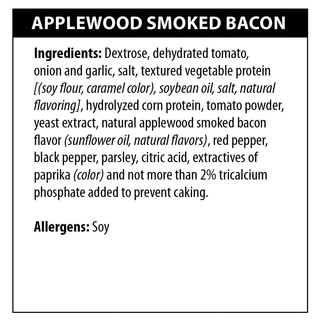 Applewood Smoked Bacon Dip Ingredients
