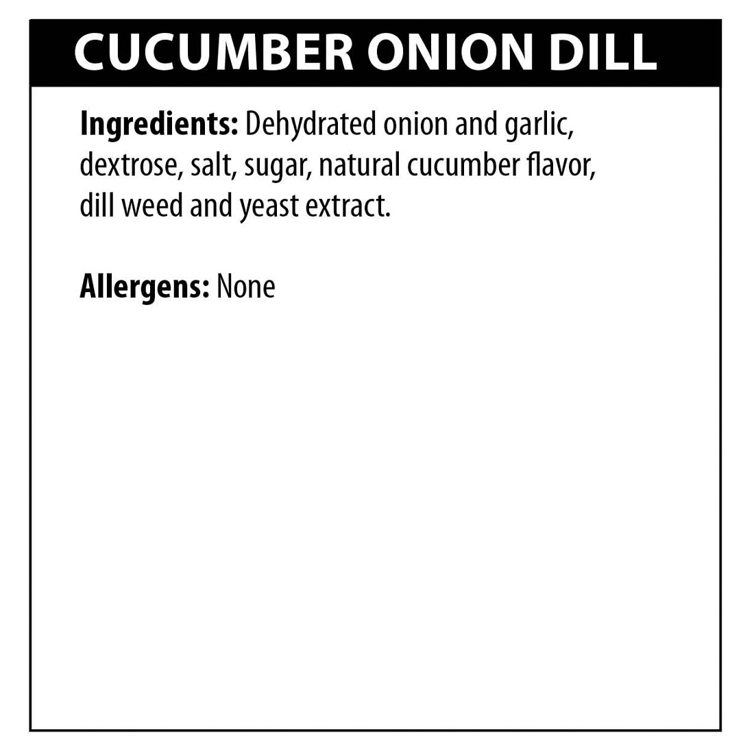 Cucumber Onion Dill Dip Ingredients