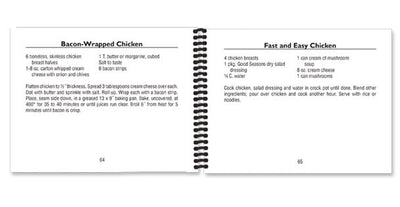 Two example pages about how to make Bacon-Wrapped Chicken and Fast and Easy Chicken