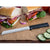 "Rada Cutlery 6"" Bread knife with silver or black handle options."