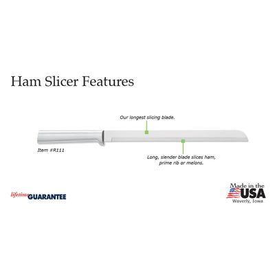 Ham Slicer Knife Features info graphic
