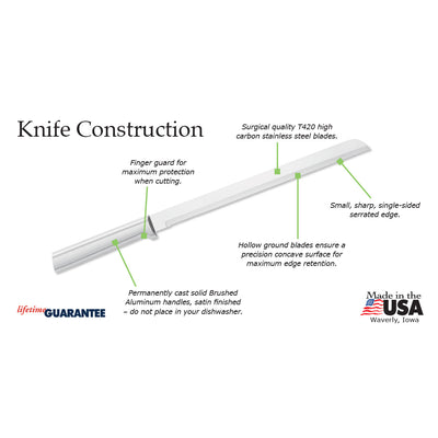 "10"" Bread Knife Construction information"