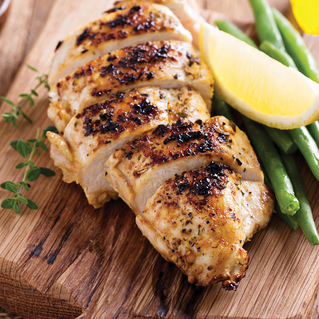 Zesty Lemon Pepper Seasoning on chicken breast.