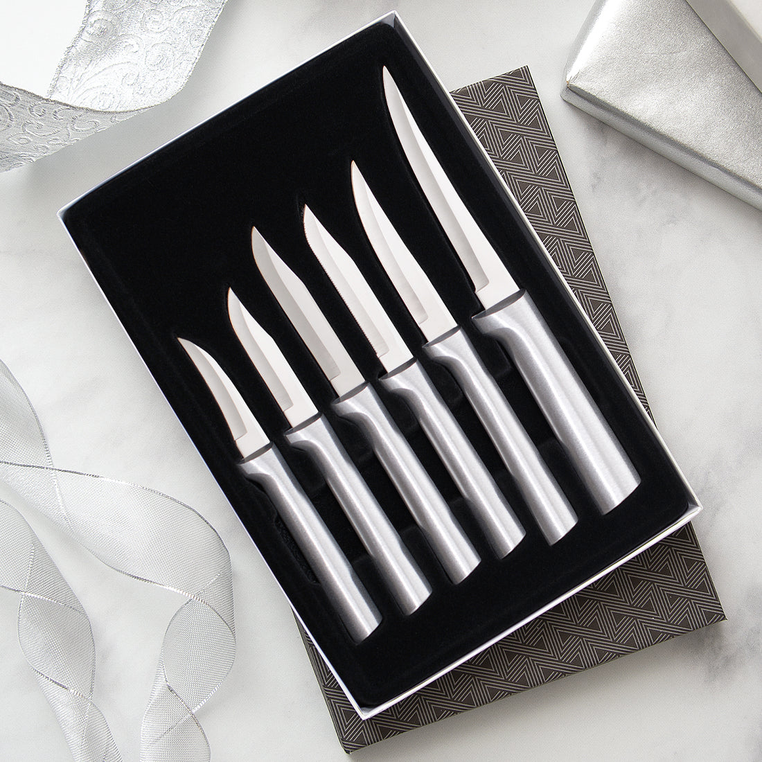 Rada Cutlery All Star Paring Gift Set with silver handles.