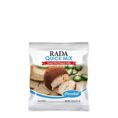 Rada Quick Mix Sweet Hot Pepper Jelly Cheeseball package.