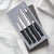 Rada Cutlery Meal Prep Gift Set with silver handles.