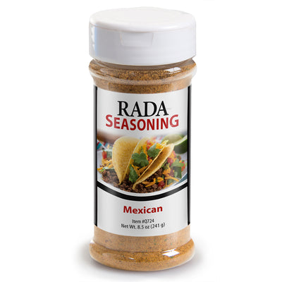Rada Quick Mix Mexican Seasoning shaker bottle package.