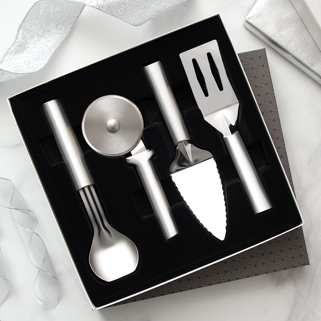 Rada Cutlery Ultimate Utensil Gift Set with silver handles.