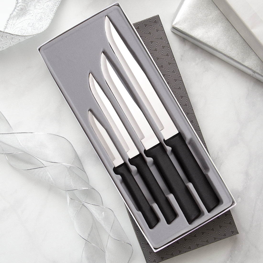 Rada Cutlery Wedding Register Gift Set with silver handles.
