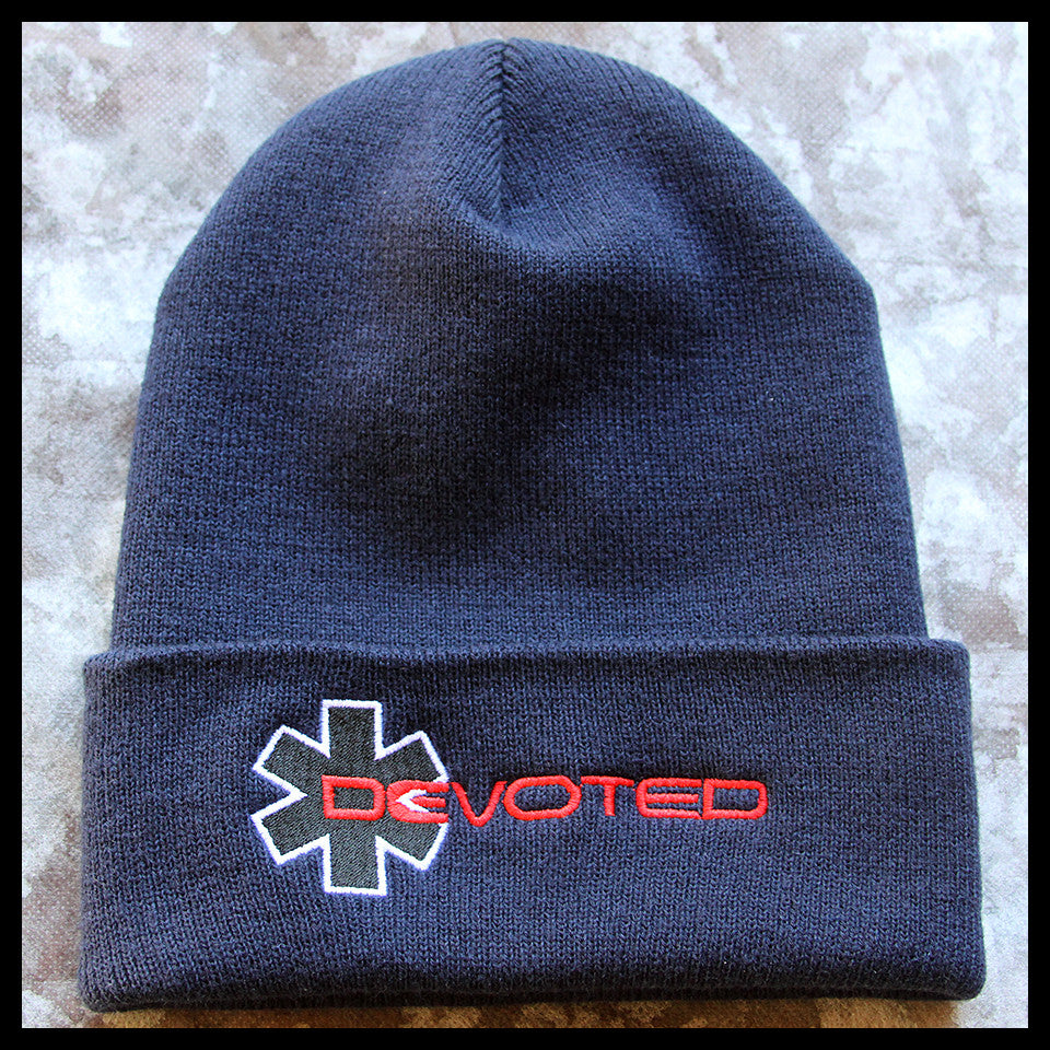 Devoted Cuffed Knit Cap - Navy