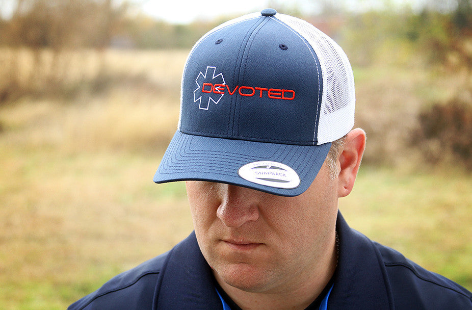 Devoted Snapback - Navy/White