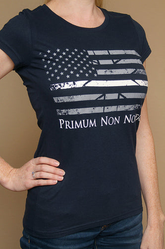 Thin White Line Flag - Ladies Cut