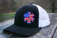 AMA American Flag Star Flexfit  - Black/White