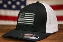 Thin White Line Flag Fitted Trucker - Black/White