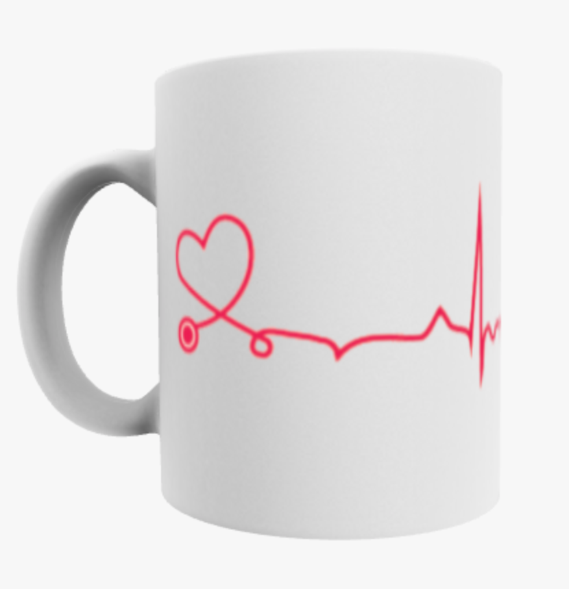 Heart Monitor Stethoscope Mug