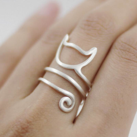 Curly Cat Ring