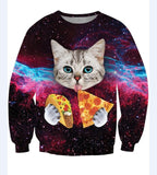 pizza cat taco sweater gallaxy space amazing