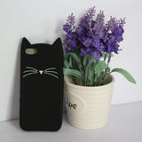 Soft Kitty Silicone Phone Case [Pink or Black!]