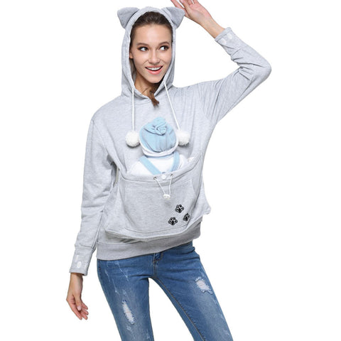 Take Me With You Cat-aroo Pouch Hoodie