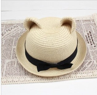 Straw Sun Hat with Ears [3 Colours!]