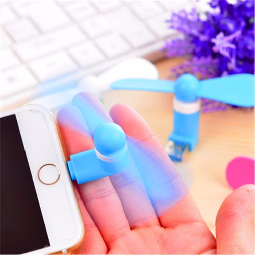 Mini ventilator - Micro USB & Lightning - Android & iPhone KoopjesAap