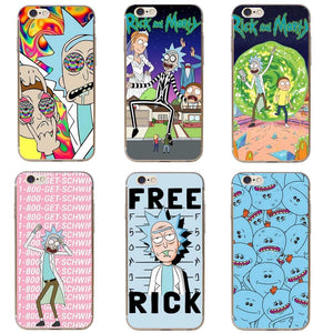 Rick and Morty hoesje iPhone 5 5S SE - 6 6S - 6Plus -  7 - 7Plus- 8 - 8Plus - 10 X KoopjesAap