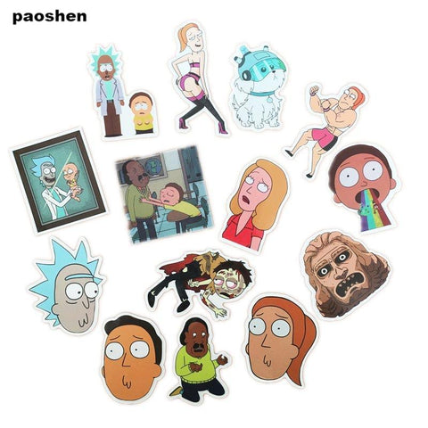Rick and Morty stickers - 35 Stuks - Cartoons